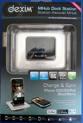 Dexim Mhub Dock Station Iphone 4 Ipod Blackberry Will Charge Kindles **new**