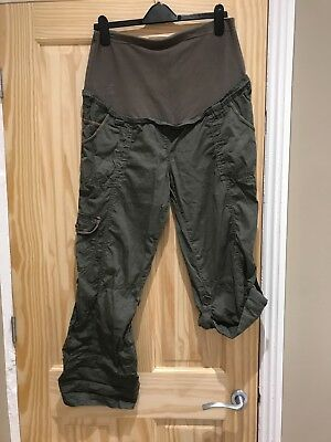 Mothercare maternity green cargo pants - size 14R
