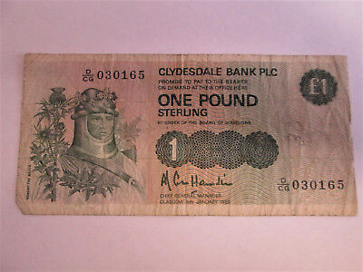 Bank of Scotland and Clydesdale Bank one pound notes.