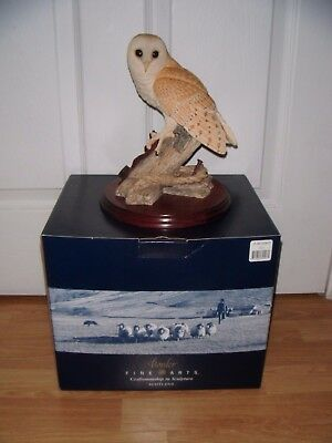 Border Fine Arts ~ Owl On The Lookout ~ Excellent ~ Boxed ~ Signed By Ray Ayres
