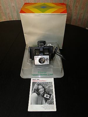 Vintage Polaroid Square Shooter 2 Land Camera with box & manual - Used, untested