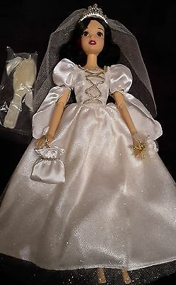 Disney Store Princess Snow White Once Upon Wedding Dress Barbie Fashion Doll 12""