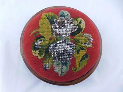 Victorian Beadwork Foot Stool