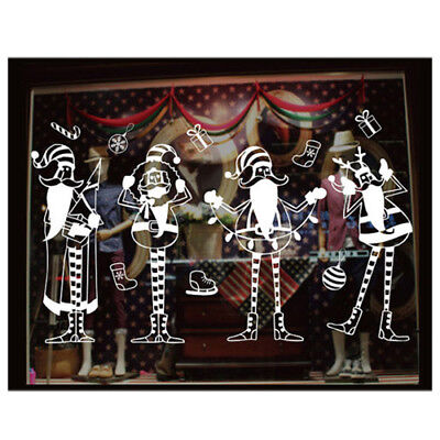 Wall Sticker Christmas Decorations For Home XD-05 Four singing Santa and ElkN7V5