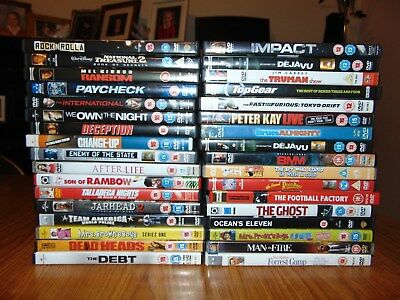 Mixed Bundle of 32 used DVDs for collection only from PR6 7 area. GRAB A BARGAIN