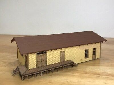 Laser Cut Basswood N Scale Layout Freight Depot Warehouse Built Lighted Painted