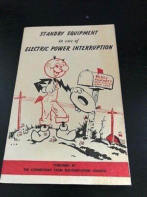 Reddy Kilowatt Standby Equipment Booklet - 1955 - Connecticut Farm Elec. Council