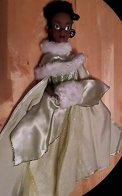 Disney Store Princess Tiana Winter Green Deluxe Gown Wardrobe Classic Doll 12""