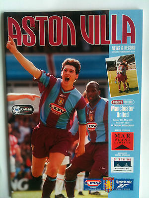 MINT 1999/2000 Aston Villa v Manchester United Premier League