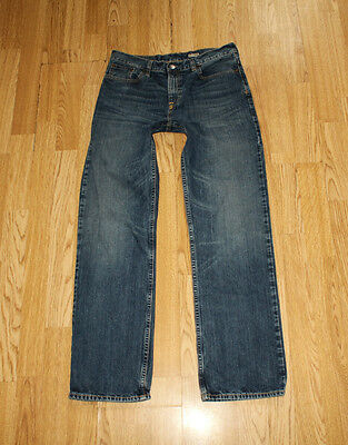 Blue Denim POLO RALPH LAUREN Zip Stonewashed Straight Leg Boys Jeans Sz 20 L 29