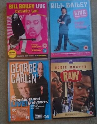 Comedy DVD Bundle Stand Up Comedy bill Bailey George carlin Eddie Murphy VGC