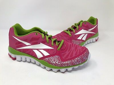 13744a1b0b59 New! Girls Youth Reebok RealFlex Transition 2.0 V53138 Athletic Shoes Pink  N1