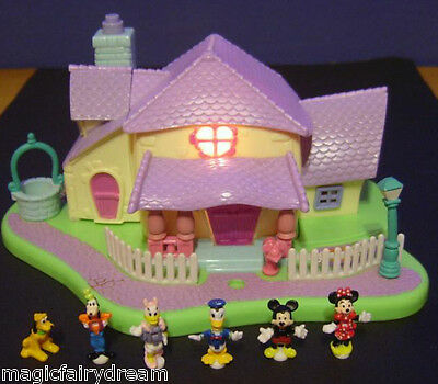 Polly Pocket Mini Disney ♥ Minnie`s Surprise Party Villa ♥ LICHT ♥ 99% Komplett