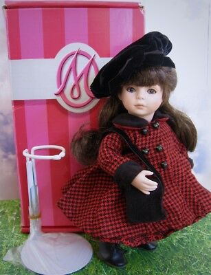 """Adorable 8 In. Porcelain Tiny Tots """"georgianna"""" Doll Made By Marie Osmond W/box"""