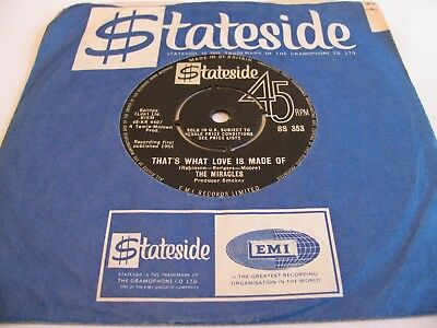 The Miracles - That's What Love Is Made Of / Would I Love You - Stateside