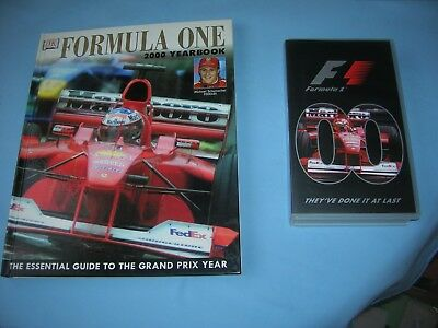 VHS Official 2000 Formula One F1 Season Review  +  formula one 2000 year book