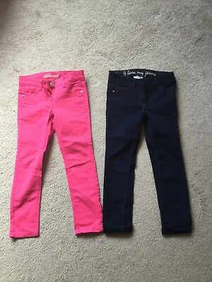 2 pairs girls next jeans age 6 exc cond