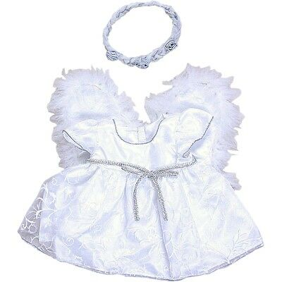 """Angel outfit with Wings teddy Bear clothes fits 15"""" Build a Bear"""