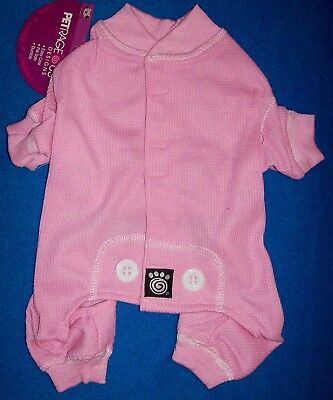 "NEW Pink ""Thermal Underwear"" Dog Pajamas Sleepwear Clothes (Choose Size)"