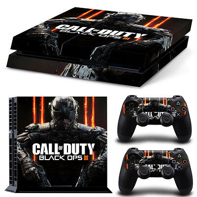 PS4 Call Of Duty Black Ops Skin Vinyl Decal Skin Sticker + 2 Controller