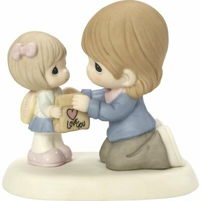 Mom Giving Girl Lunch Precious Moments Figurine My Heart Goes With You NWOB