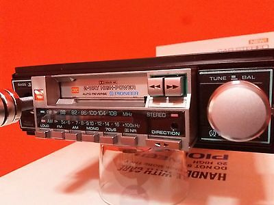 PIONEER VINTAGE KPH-7000 CASSETTE CAR STEREO WITH FM/AM AUTO-REVERSE 20+20watios