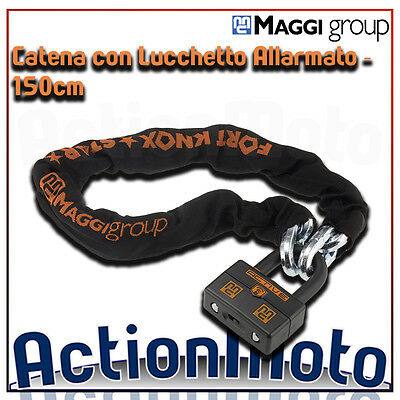Chain with Padlock alarmed ant-itheft system MAGGI FORT KNOX STAR ACTIVE 150cm