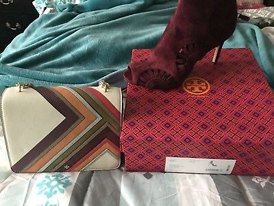 1635ccc51 TORY BURCH LEYLA 85mm booties   matching purse -  580.00
