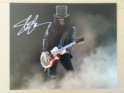 Slash Guns N Roses Original Hand Signed Autograph 8 x 10 Photo with COA