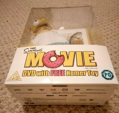 Simpsons the movie dvd boxed with Homer Simpson Toy