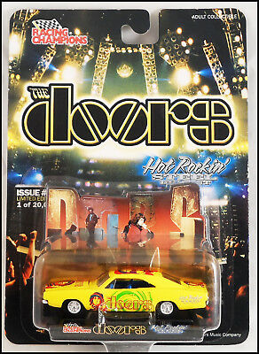 The Doors Jim Morrison 69 Dodge Yellow Charger Die Cast Car Racing Champions