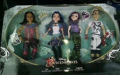 Disney Descendants 4 Pack Exclusive Mal Carlos Jay Evie Isle Of The Lost