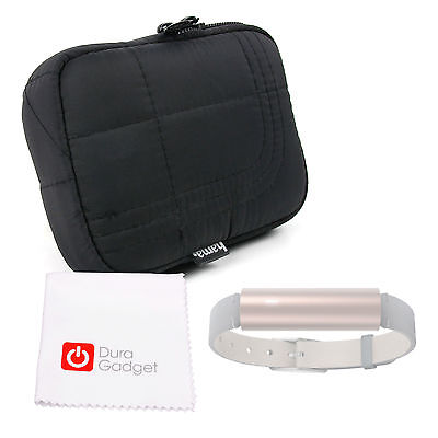 Case / Bag with Belt Loop in Black for Misfit Ray Smartwatch + Cleaning Cloth