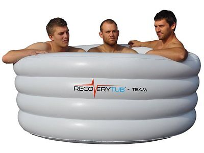 Inflatable Ice Bath - team and solo from RecoveryTub