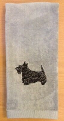 Scottish Terrier, Scottie, Hand Towel, Embroidered, Custom, Personalized