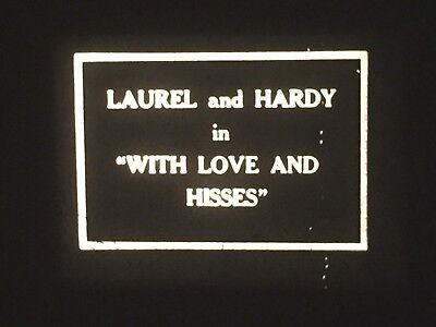 """16mm short film -- """"With Love and Hisses"""" with Laurel and Hardy (silent with mus"""