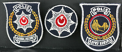 Obsolete Turkey National Police General Duty & Bridge Protection Police Patches