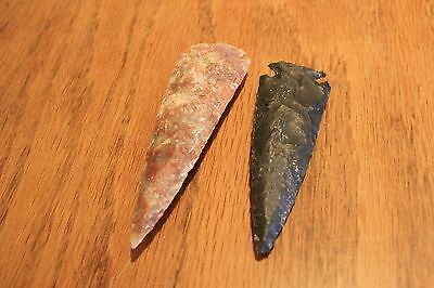 Two contemporary Dovetail Spear Points