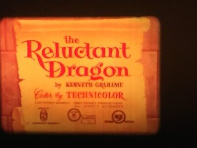 """16mm short film -- """"The Reluctant Dragon"""" by Disney Studio"""