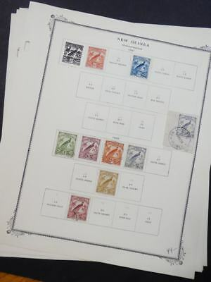 EDW1949SELL : NEW GUINEA Very Fine, Mint & Used collection on album pgs Cat $166