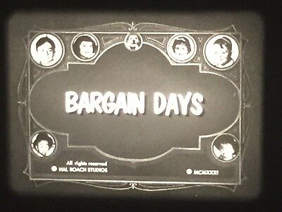 """16mm short film -- """"Bargain Days"""" with Our Gang"""