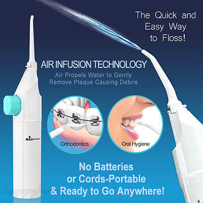 UK Portable Power Floss Dental Oral Water Jet Tooth Cleaning Jet Flusher Braces