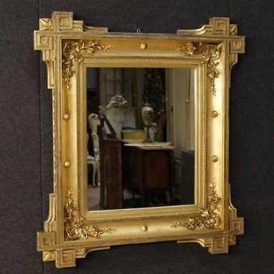 Antique mirror french golden furniture wood antiques frame 800 19th century
