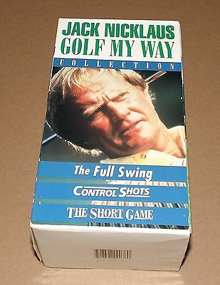 Jack Nicklaus: Golf My Way Collection (VHS, 3-Tape Set)