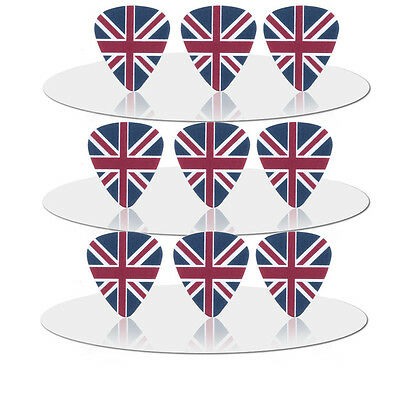 Union Jack British Flag Britain Guitar Picks Lot of 10 .71 mm Free Tracking New