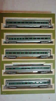N Scale Lot Of (5) Five Trix  Penn Central Railroad Passenger  / Coach Cars