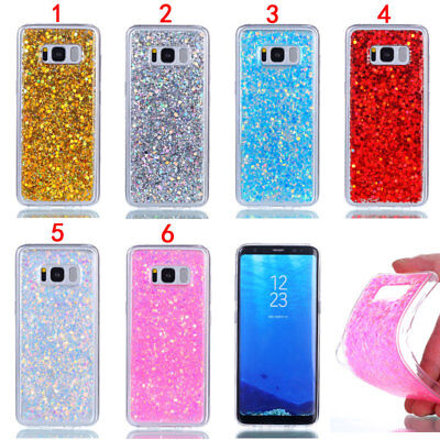 Glitter Rubber Soft TPU Case Cover For Samsung S5 S6 S7 S8 S9 S10 A6 Plus J510