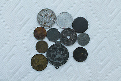 German Mixed Coins lot, Notgelds, Weimar, Game tokens and medalions, total of 11