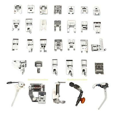 #QZO 32 PCS Domestic Sewing Machine Foot Feet Snap On For Brother Singer Set