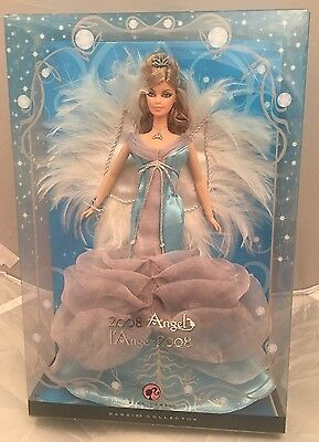 Mattel 2008 Angel 😇Barbie Doll Pink Label Edition.NEW.Blue Silver Feather Sears